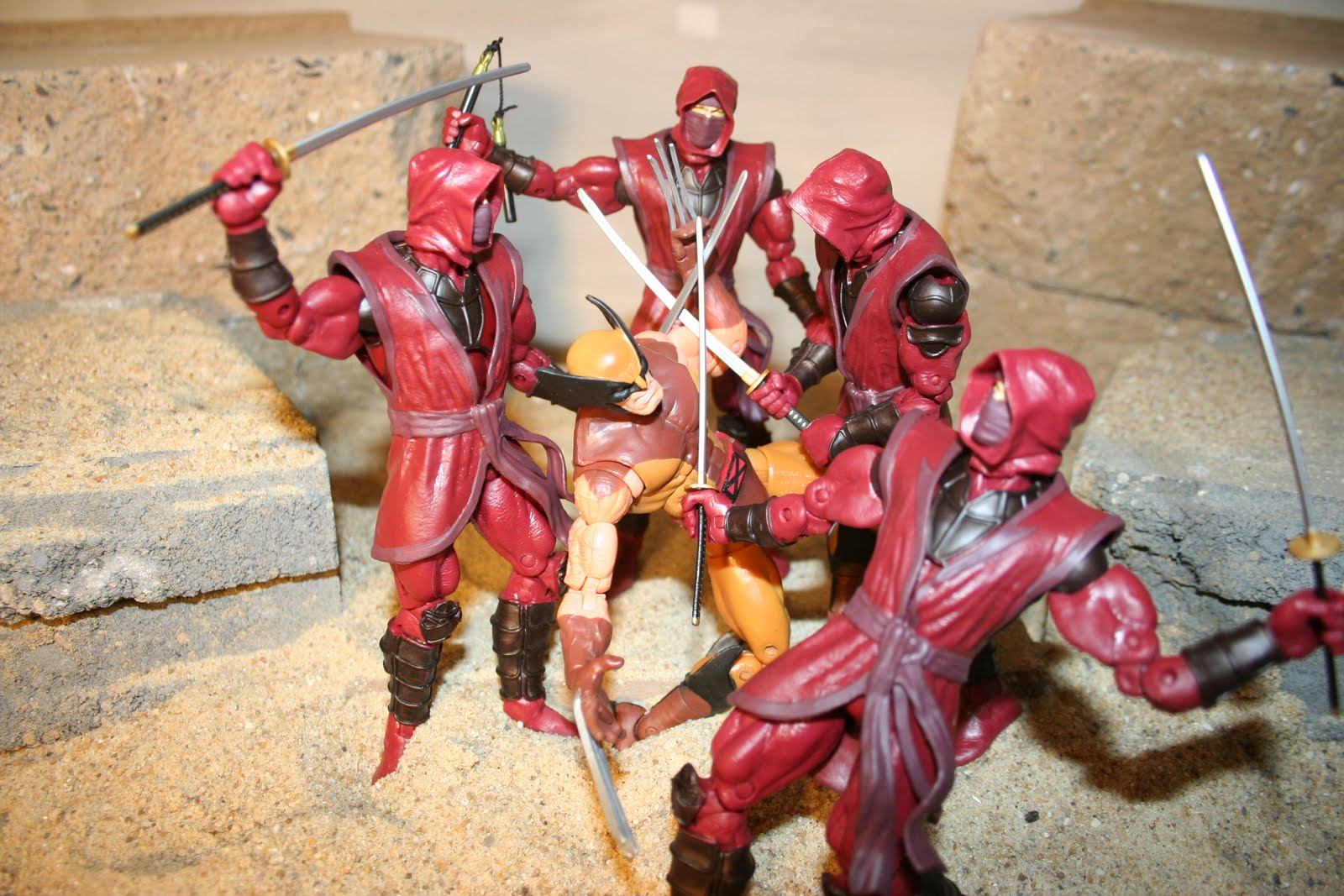 Wolverine vs Hand Ninjas