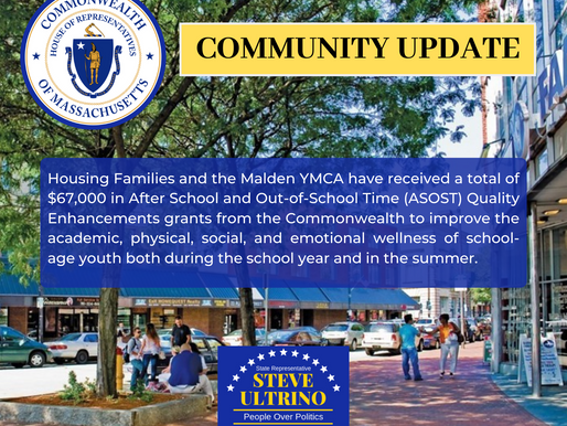 HOUSING FAMILIES AND THE MALDEN YMCA AWARDED A TOTAL OF $67,000 IN ASOST GRANTS