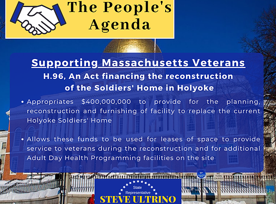 Legislation passes to provide $400 Million for replacing the Holyoke Soldier's Home