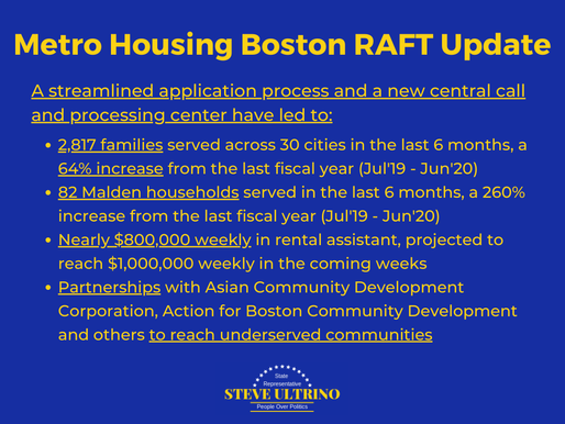 Rental Assistance for Families in Transition (RAFT) Update