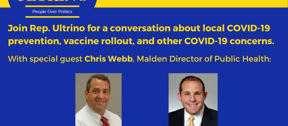 Join Us @7pm on 02/11/2021 for a Conversation with Malden Director of Public Health Chris Webb