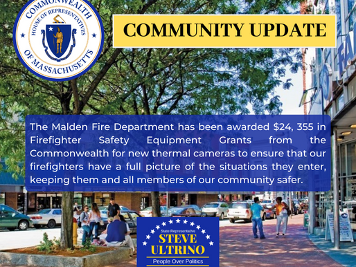 MALDEN FIRE DEPARTMENT AWARDED $24,355 IN FIREFIGHTER SAFETY EQUIPMENT GRANTS