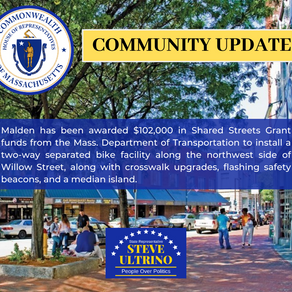 MALDEN AWARDED $102,000 IN SHARED STREETS GRANT FUNDS