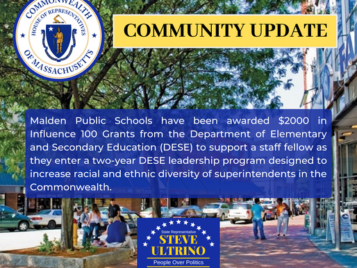 Malden Public Schools have been awarded $2000 in Influence 100 Grants from the Department of Element