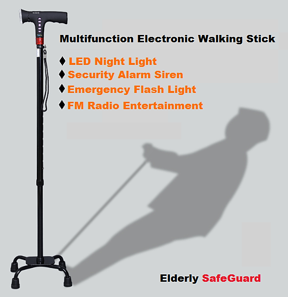 Electric Multi Function Elder Walking Stick 11street
