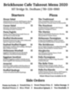 newest of 2X Takeout Menu March & April
