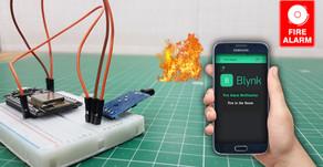 NodeMcu ESP8266 Blynk Fire Alarm Security Notification