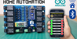 Arduino Bluetooth Home Automation |10 Devices | PCB