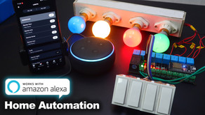 ESP32 Amazon Alexa Echo Dot Manual Switch Home Automation System