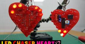 LED Heart Keychain | LED Chaser