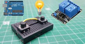 Arduino Push Button Relay Control