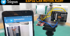 ESP32 Cam Motion Alert Send Image to Telegram