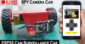 ESP32 CAM Surveillance SPY Camera Car