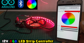 Arduino Bluetooth12V RGB LED Strip Controller
