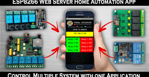 ESP8266 Web Server Application Home Automation System