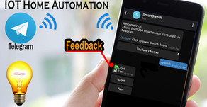 ESP8266 Telegram Home Automation Feedback System