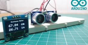 Arduino Distance Meter | OLED Display | Ultrasonic Sensor HC SR04
