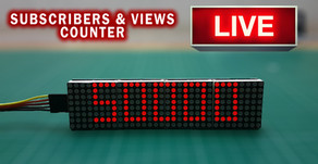 Realtime Subscribers and Views Counter 8x8 Matrix Display