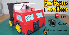 Arduino Fire Fighter Truck Robot Version 2 | Smartphone Controlled
