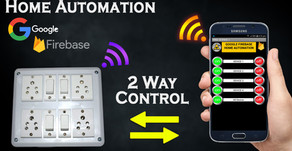 Google Firebase 2 Way Home Automation Switch and Smartphone Control