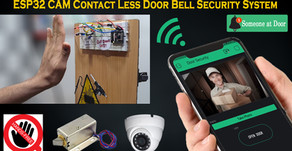 ESP32 CAM Contact Less Door Bell Security System