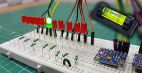 Arduino LED Spirit Level MPU6065