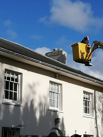 Installing a Flue/Wood Burner into a Property With Crane