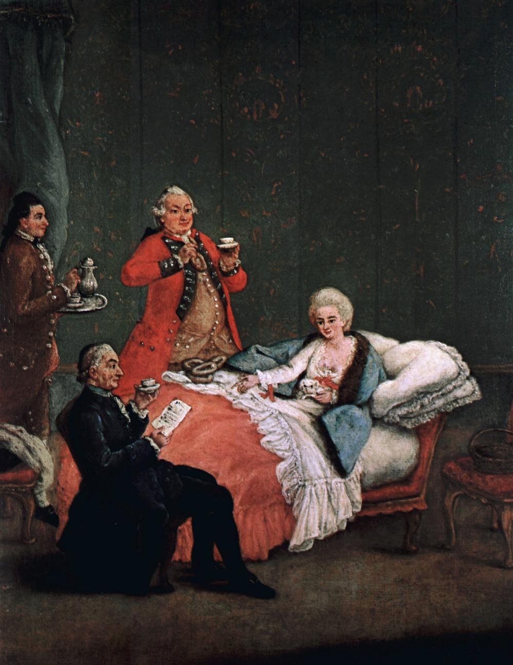 Pietro Longhi, The Morning Chocolate, Venice, 1775-1780