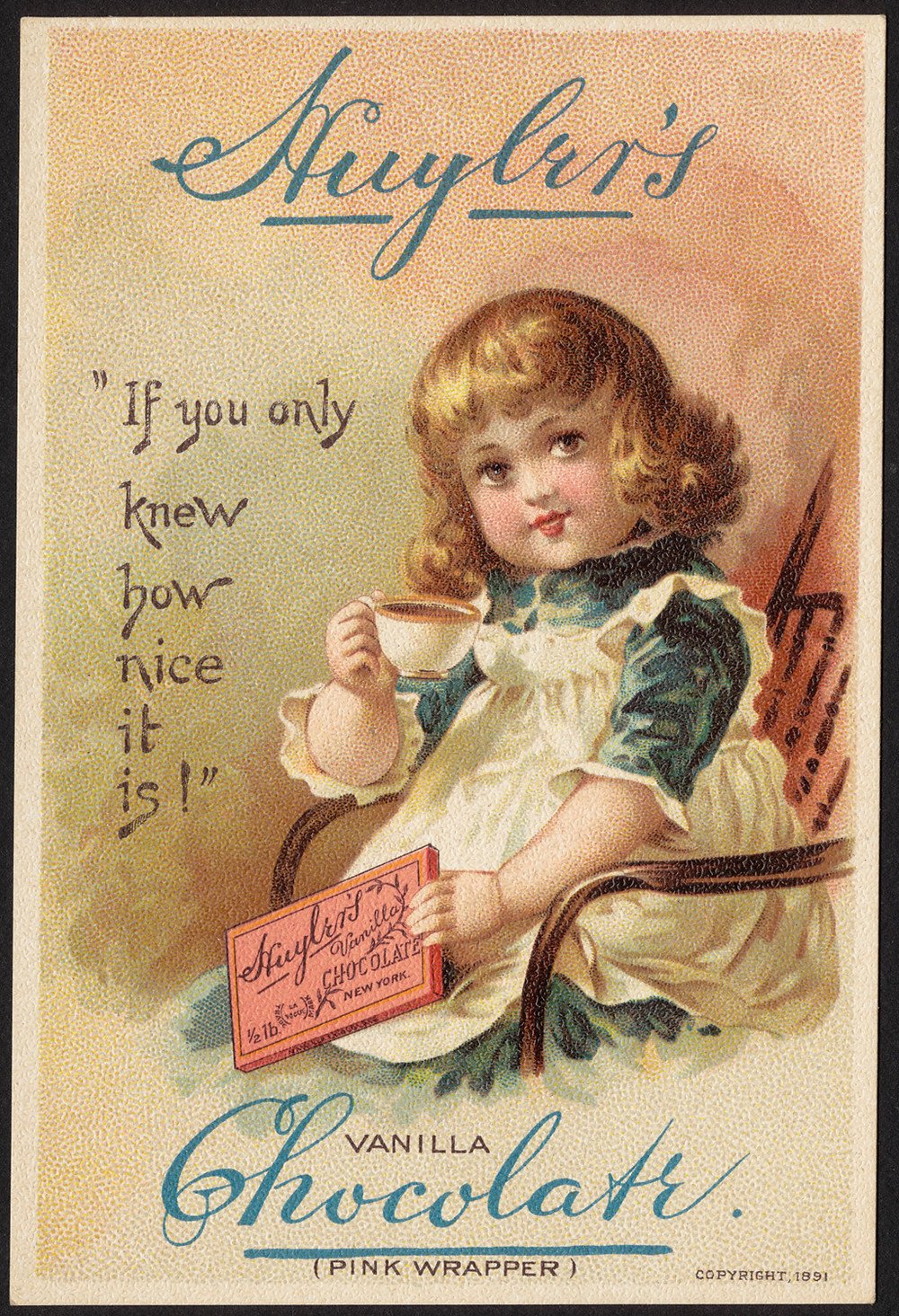 Huyler's Chocolate, 1891, Boston Public Library