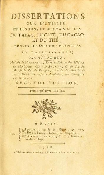 Buc'hoz and Cacao Economics