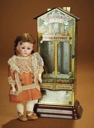 "German Lithographed Dispenser ""Victoria,""c. 1890"