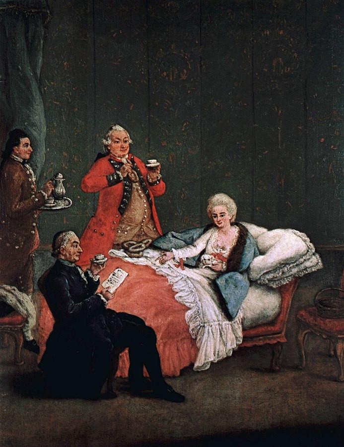 Pietro Longhi, La cioccolata del mattino, 1775-1780