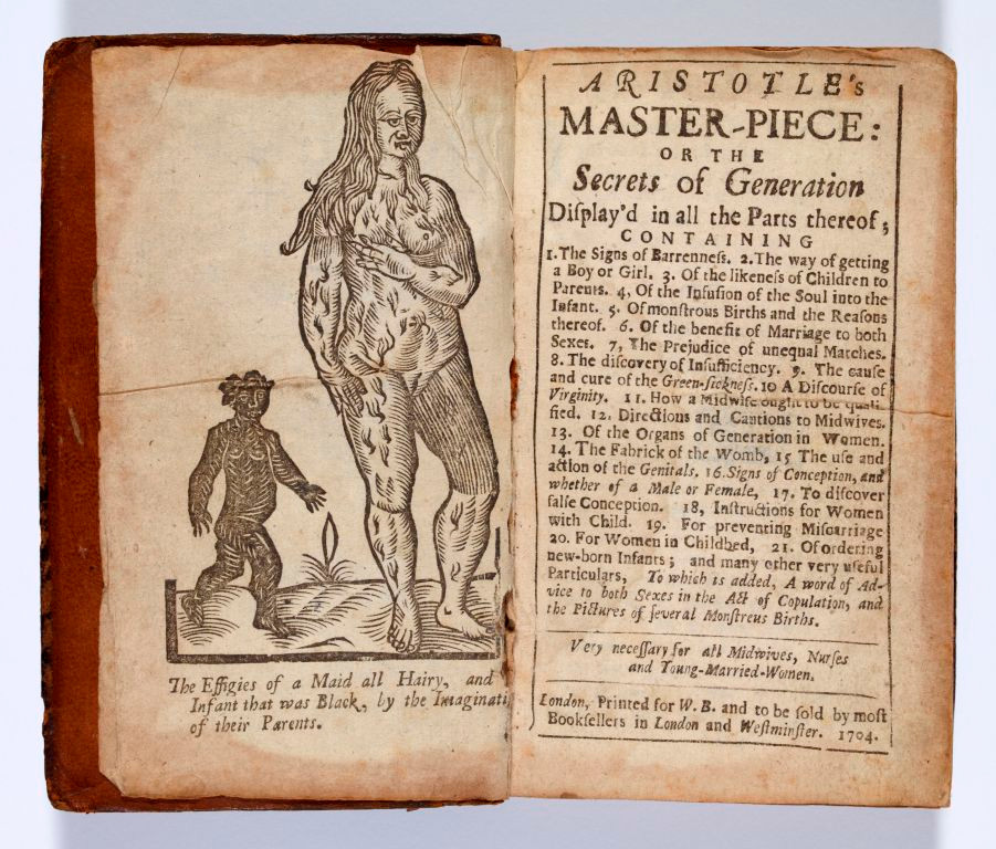 Frontispiece, Aristotle's Masterpiece, 1704 [1684]