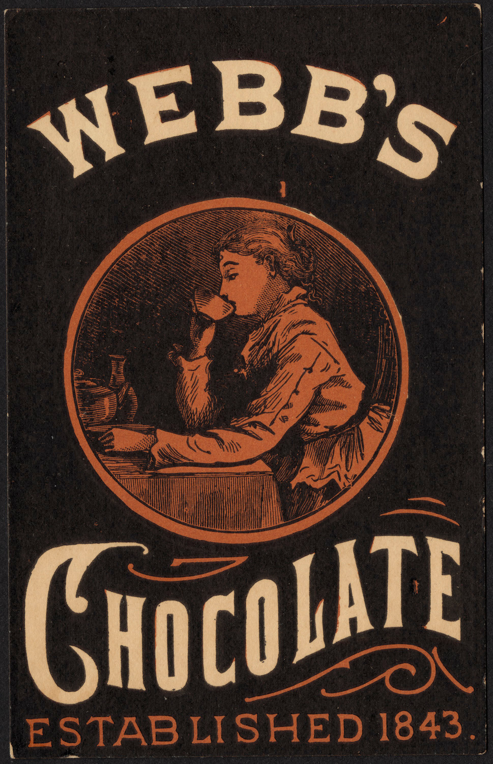 Webb's Chocolate, 1870 - 1900, Boston Public Library