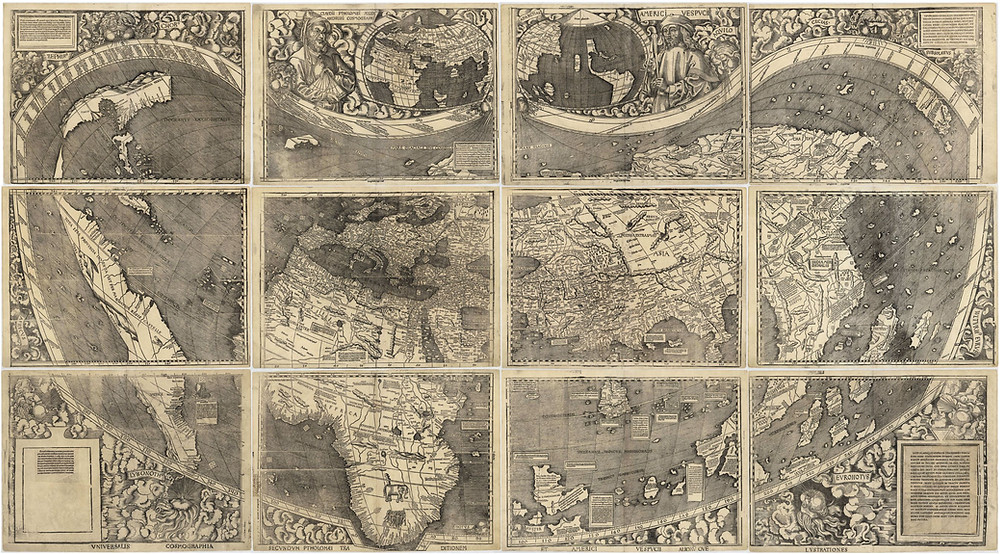 Universalis Cosmoraphia, Martin Waldseemüller, 1507