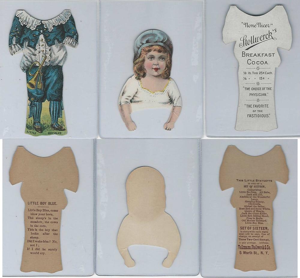 Little Boy Blue Statuette paper doll, c. 1895