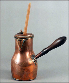 Chocolate Pot, Colonial Williamsburg, second half of the 18th C