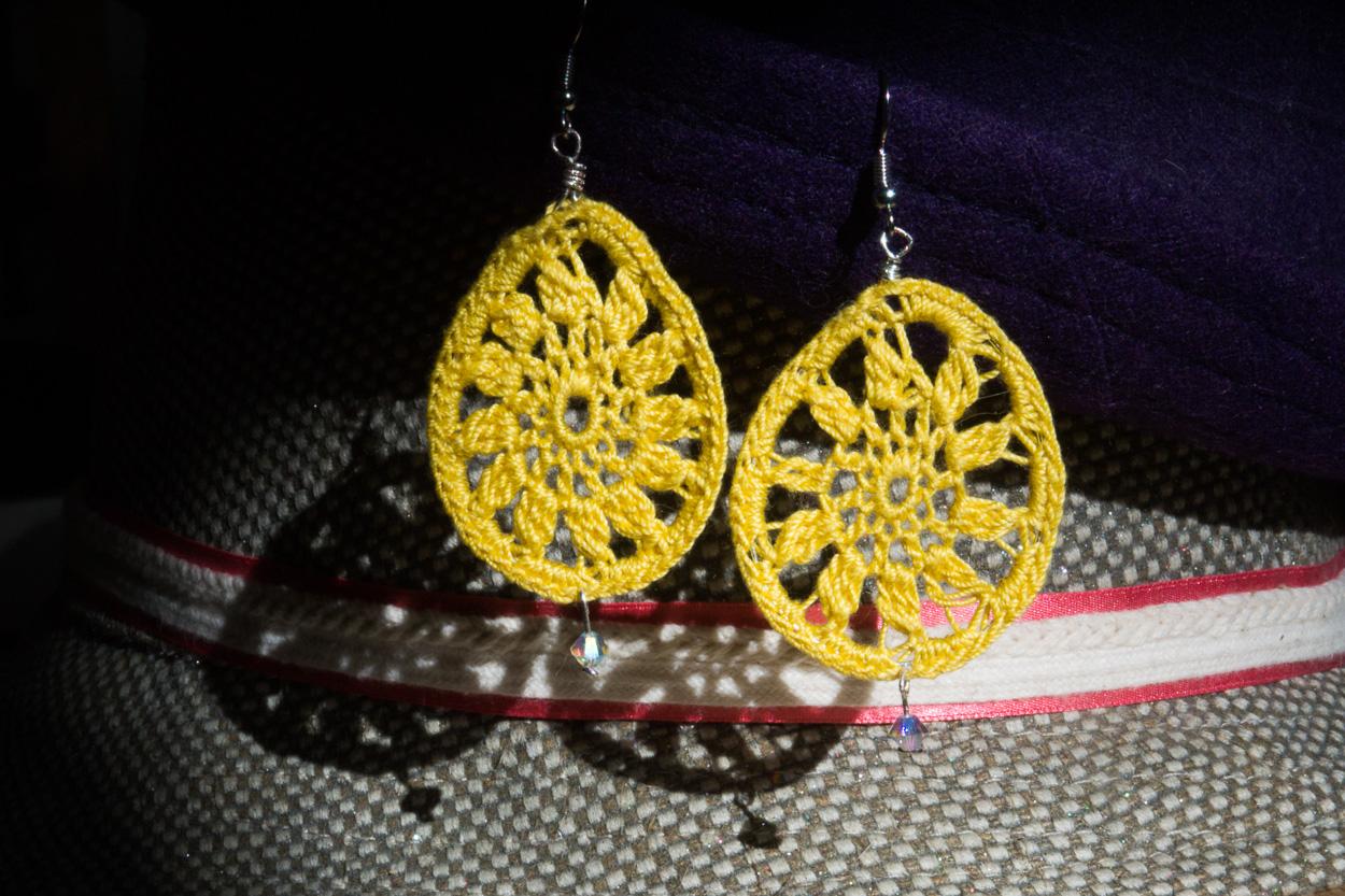 Yellow drop earrings