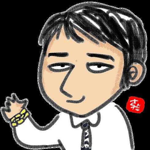 【似顔絵アイコン】「吉尾様(ワイシャツ)影点あり(背景透過)」.png