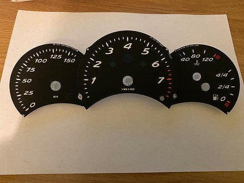 Porsche Boxster 986 Instrument cluster clock faces