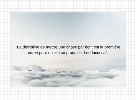 Discipline et autodiscipline.