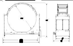 ROTORAP RTR1000 Orbital stretch wrapper drawing