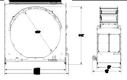 ROTORAP RTR100 Orbital stretch wrapper drawing