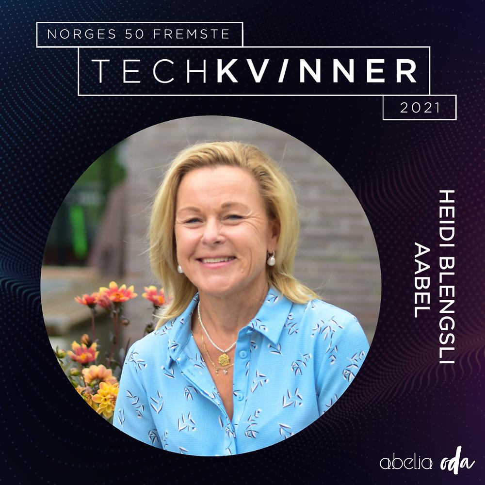 CheckWare's CEO Heidi Blengsli Aabel, Norways 50 foremost women in tech jpg.