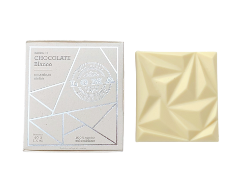 Barra chocolate blanco 40g
