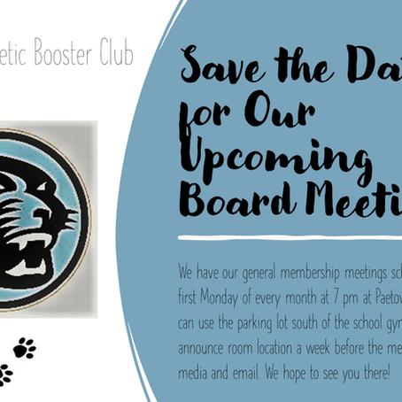 Save the Date for Our Upcoming Board Meetings