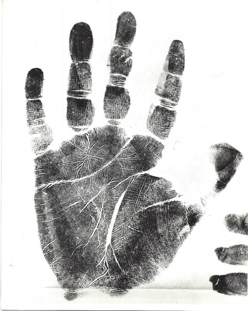 Image of Ted Bundy's handprint