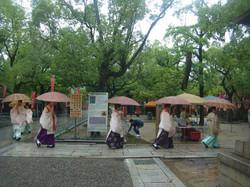 雨のお祭り