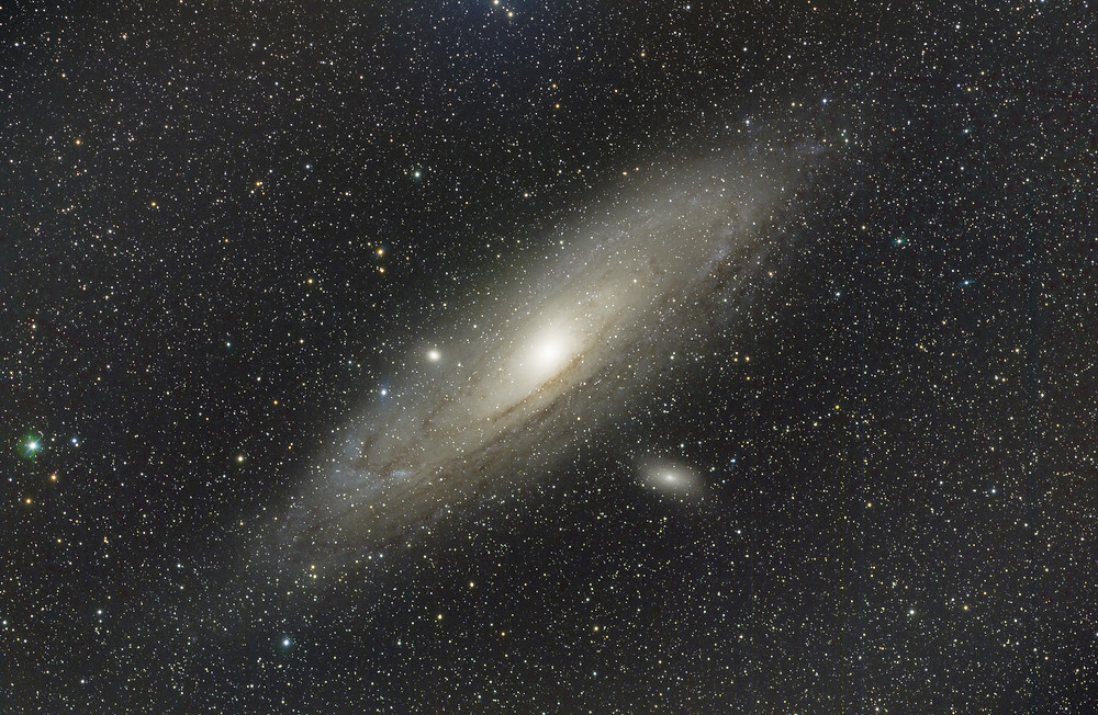 Astrophotography, space photo of the Andromeda Galaxy