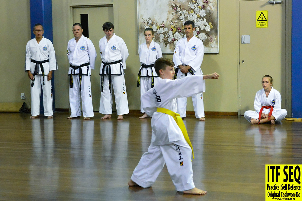 Yellow belt taekwondo student
